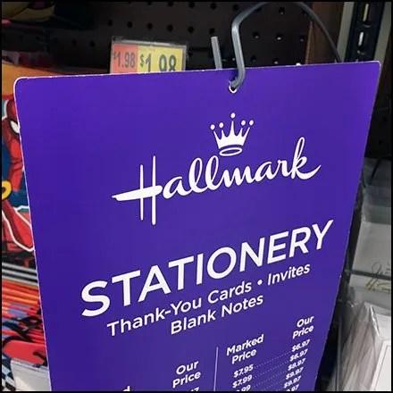 Hallmark Price Chart Discount Dangler