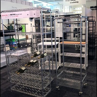 Open Wire Shelving For Sale At The Container Store