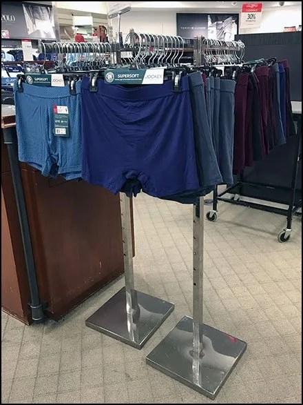 Underwear Store Fixtures and Merchandising - Clothes Hanger Underwear Merchandising