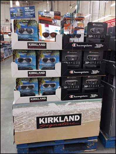 Kirkland Signature Branded Sunglass Pallet Display 2