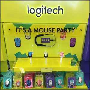 It's A Mouse Party Logitech Massed Display