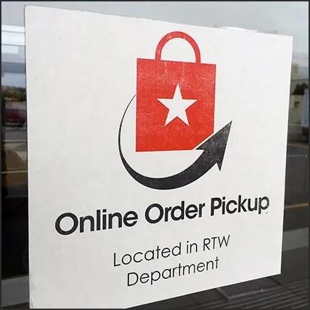 Macy's Online Order Pickup Navigation Sign