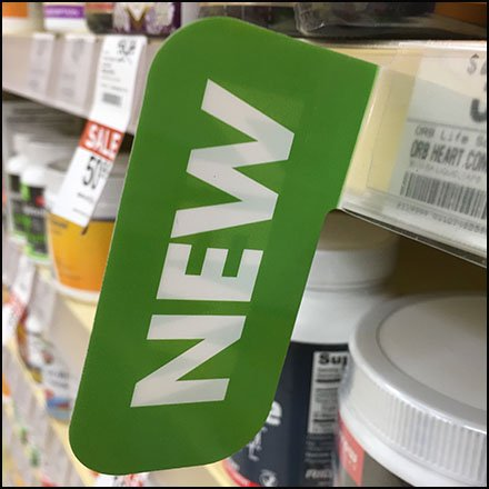 Shelf-Edge New Flag by Vitamin Shoppe