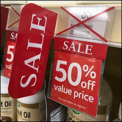Shelf-Edge Sale Flag by Vitamin Shoppe