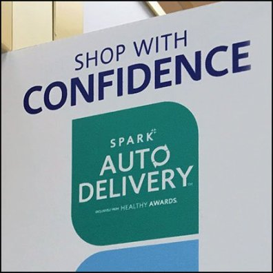 Shop With Confidence Aisle Violator
