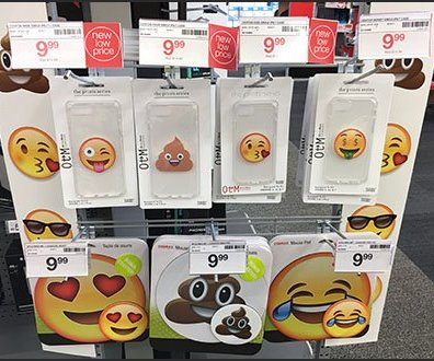 Slatwire Grid For Emoji Accessories Merchandising