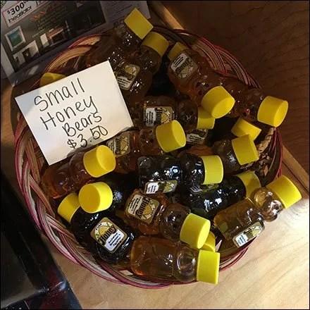 Small Honey Bear Wicker Basket Samplers