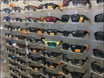 Great Wall of Sunglass Display Trays