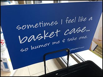 Humor Me, Take a Shopping Carry Basket Now