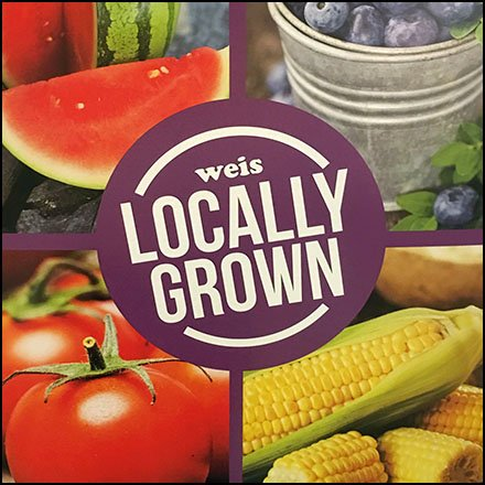 Weis Locally Grown Produce Floorstand Sign Feature