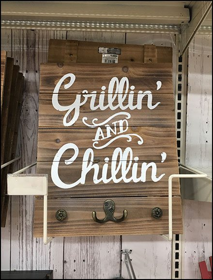 Grillin and Chillin Frame Holder Merchandising