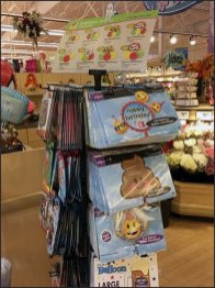 Balloon Loop Hook Spinner Rack With Menu