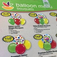 Balloon Loop Hook Spinner Rack With Menu