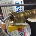 Brass Gas Valve Straight Entry Hook