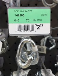 Chain Link Array Straight Entry Hook