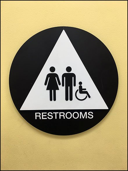 Come-One-Come-All Unisex Restroom Sign