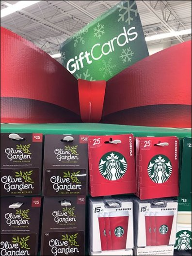 Christmas Corrugated Gift Card Tower