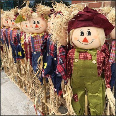 Do-It-Yourself Scarecrow Merchandising Rack Feature