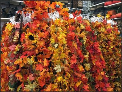 Indoor Fall Foliage Display By Scan Hook