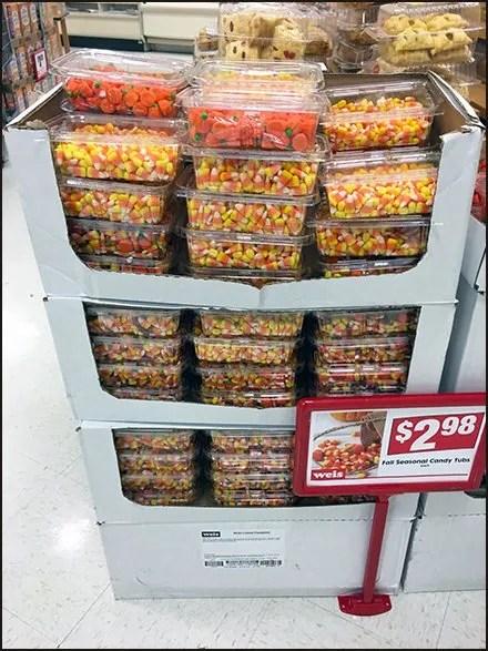 Fall Seasonal Candy Tubs Predefined