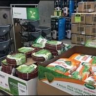 Fertilizer Floorstand Sign Mass Merchandising