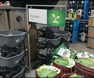 Fertilizer Floorstand Sign Mass Merchandising