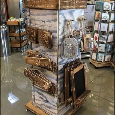 Woodshop Handmade Merchandiser Tower