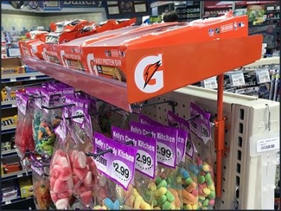 Gatoraid Endcap Gondola Height Extender