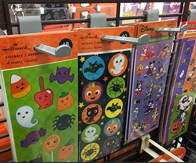 Halloween Grid Butterfly Display Hook