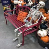 Halloween Bench As Shopper Amenity