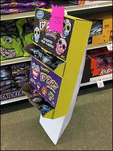 Halloween Lollipop Triangle Base Display
