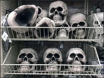 Endless Basket Outfitting for Halloween Skulls