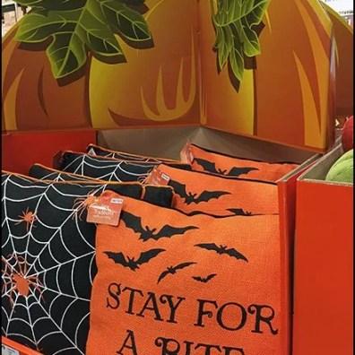 Halloween Throw Pillow Pallet Display