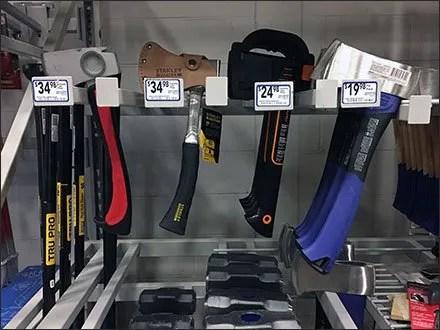 Hatchets and Hand Axes Bar Merchandiser