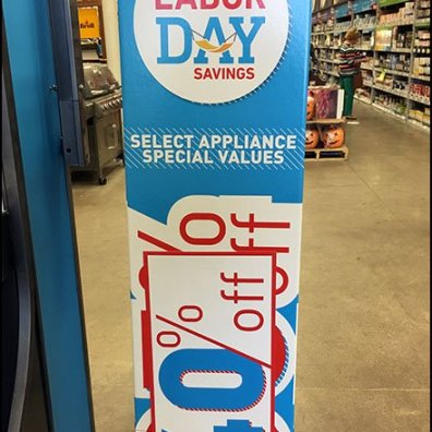 Labor Day Savings Sign Patch At Lowes