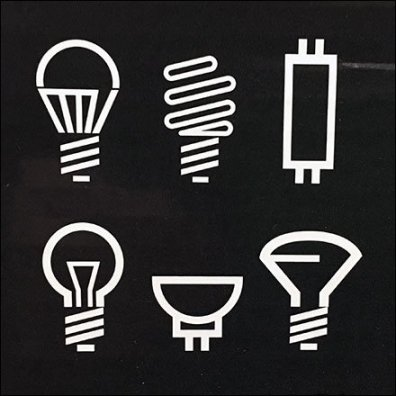 Universal Lighting Media Icons and Symbols