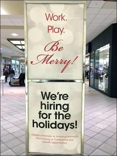 Work. Play. Be Merry! Macys Hiring Jingle