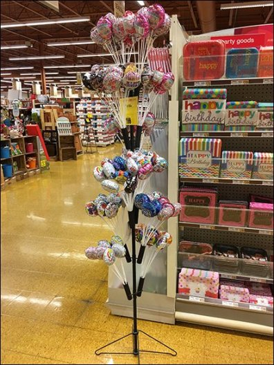 Mini Balloon Tree Merchandiser with Quivers