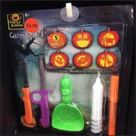 Pumpkin Carving Kit Display In Corrugated Feature