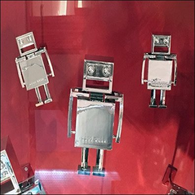 Flight of 1950s Robots As Window Dressing