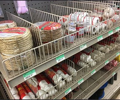 Rope and Twine Shelf Fencing and Dividers