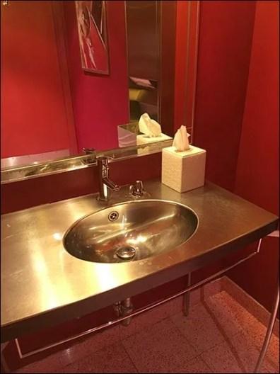Rouge Hotel Powder Room Decor 2