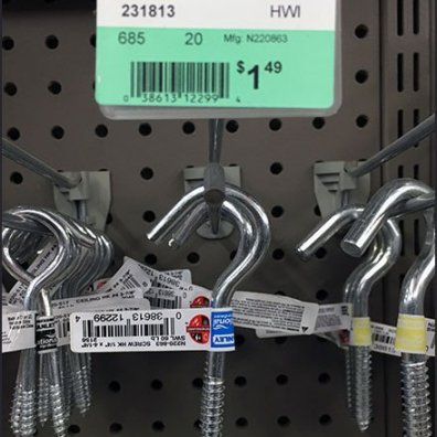 Screw Hook Array Straight-Entry Hook
