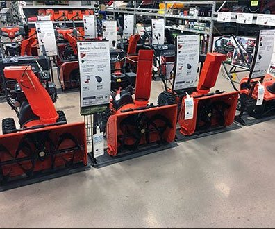 Snowblower Lineup Signs 2