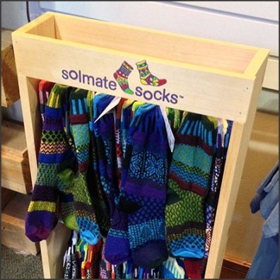 Solmate Socks Freestanding Wood Rack