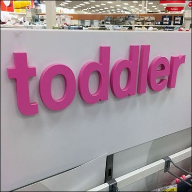 Pink Branded Winter Toddler Department