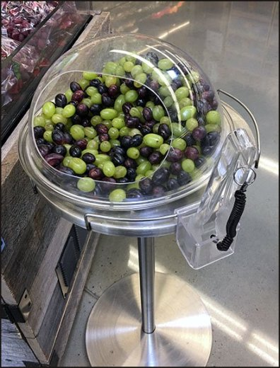 Grape Taste Test Covered Acrylic Sampling Stand