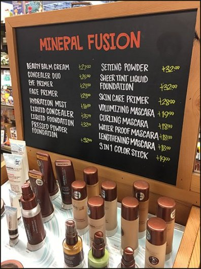 Whole Lotta Cosmetics At Whole Foods