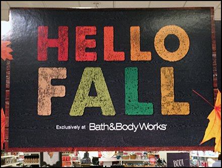 Bath & Body Works Store Fixtures - Fall Collection Display at Bath & Body Works