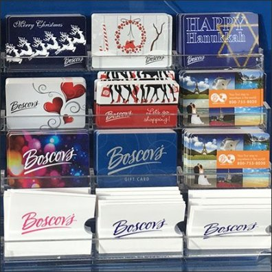 Christmas, Hanukkah, All Occasion Gift Card Display Detail Aux